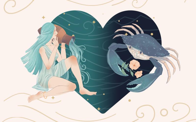 Aquarius and Cancer Match