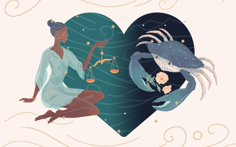 Libra and Cancer Match