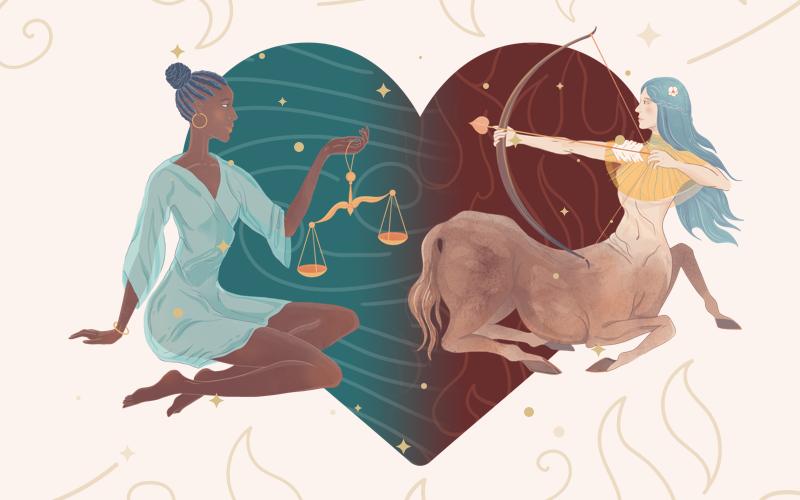 Libra and Sagittarius Match