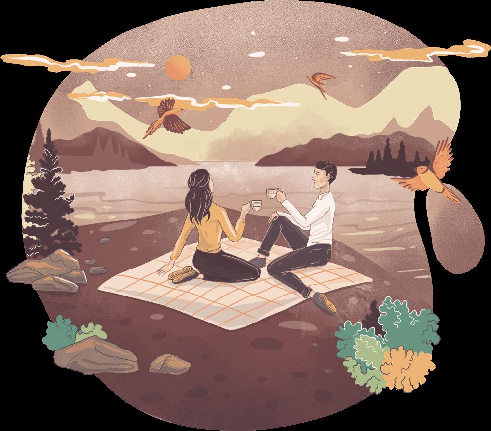 Capricorn woman / Libra man Earth Air sign romantic match