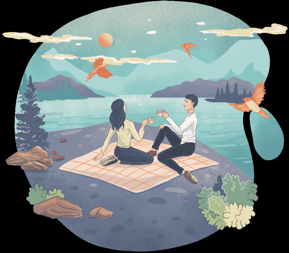 Scorpio woman / Taurus man Water Earth sign romantic match