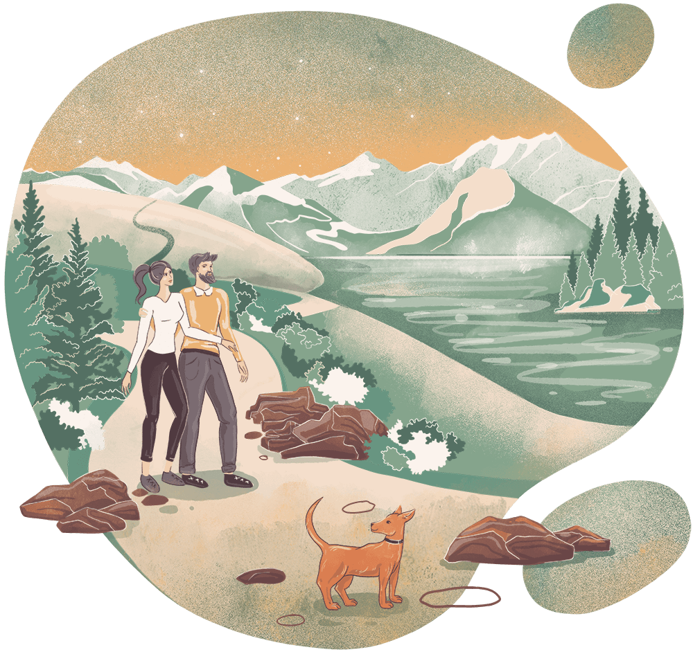 Taurus woman / Sagittarius man Earth Fire sign romantic match