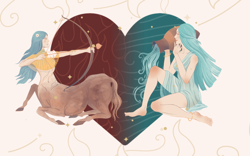 Sagittarius and Aquarius